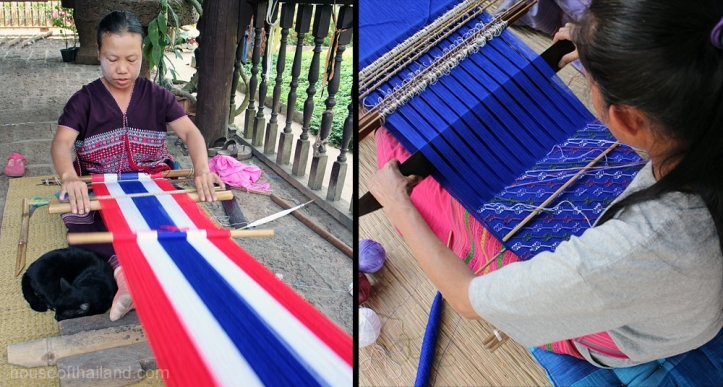 Hill Tribe weaving in Thailand