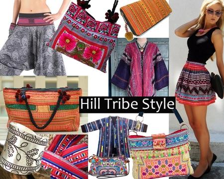 Hill Tribe Purses, shirts, pants, hadbags, bracelets