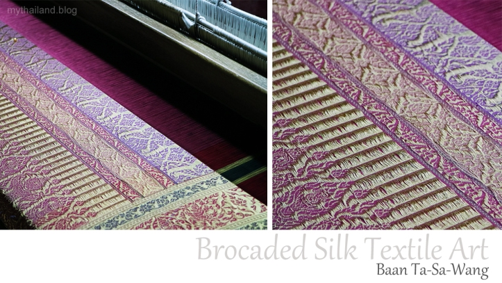 Brocaded Thai silk from Ban Tasawang