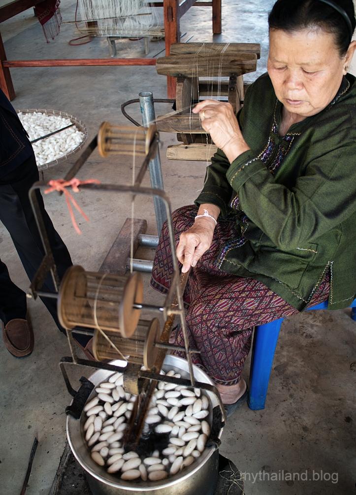 Reeling silk in Ban Phon