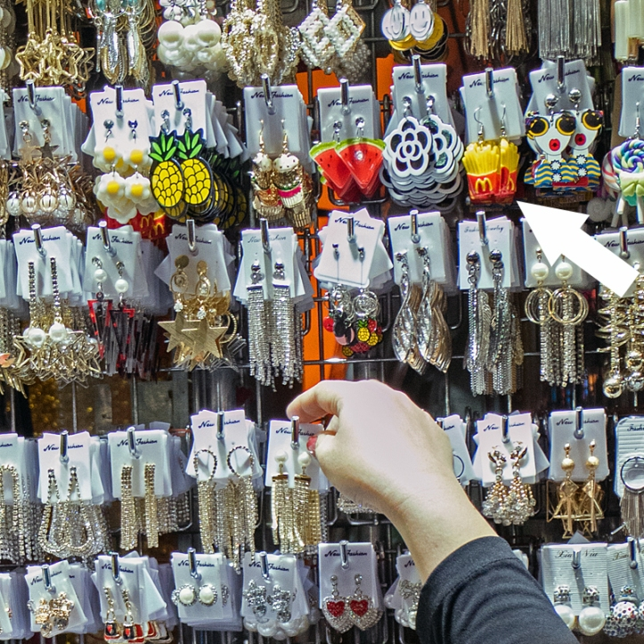 Earrings at Pratunam Market