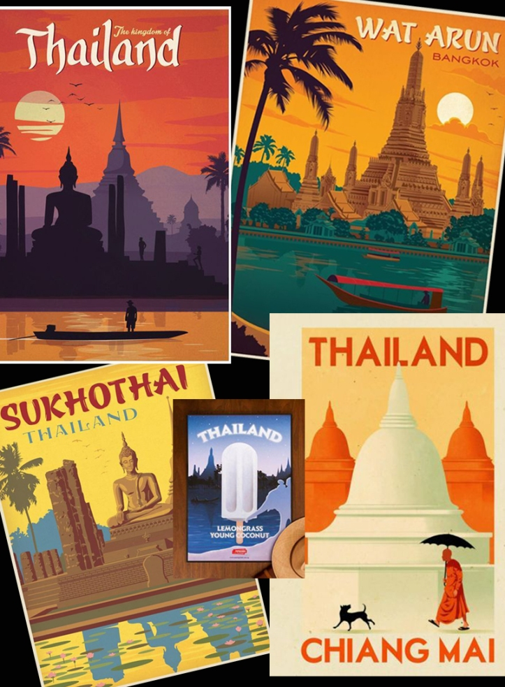 70's Thailand Travel Posters
