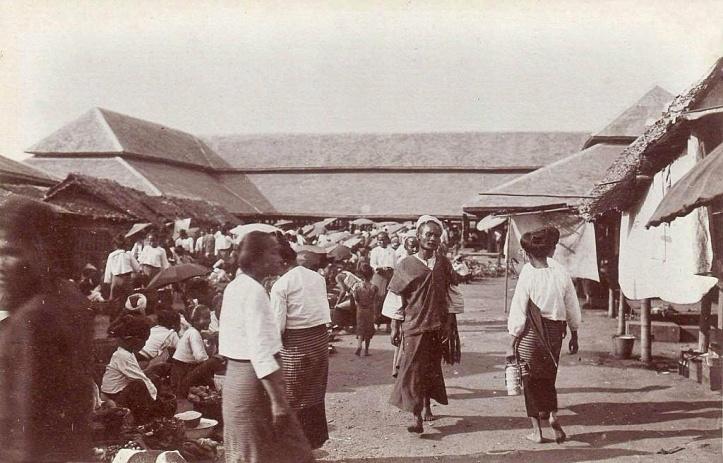 Wororot Market in 1920. Chiang Mai