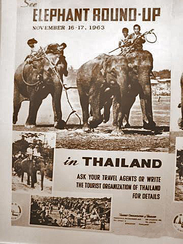 1963 Poster of the Surin Elephant round-up