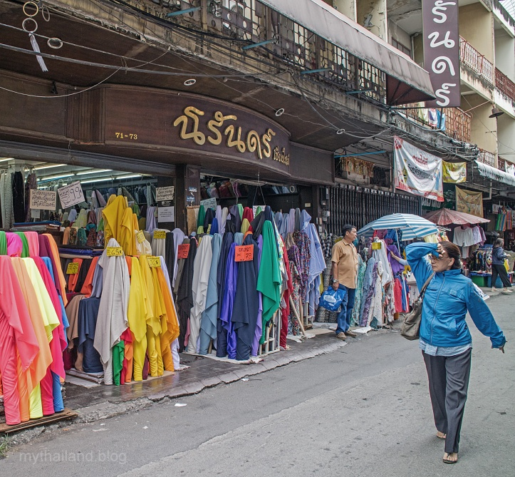 Shopping for fabrics in Chiang Mai