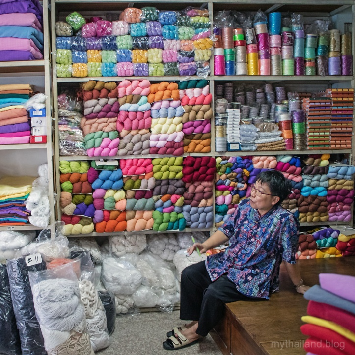 A Yarn vendor in the Chiang Mai Garment District