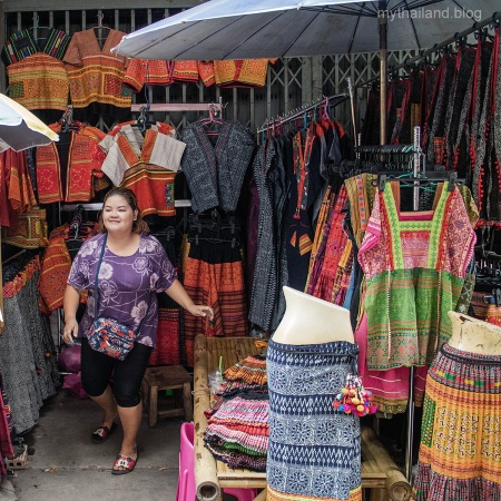 Hill Tribe style wares for sale in Chiang Mai