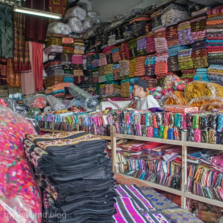 A fabric store in the Chiang Mai Garment District