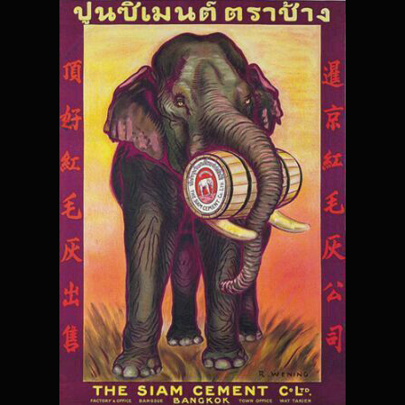 Siam Cement Co. ad with an elephant